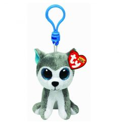 A velvety plush beanie boo clip. Great for clipping to bags, prams and keys.