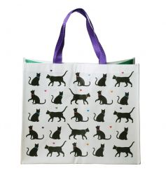 Cat Design Shopping Bag