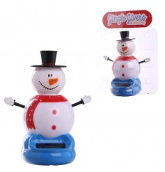 Cute Jiggling snowman solar toy