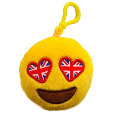 Union Jack Emoji Plush Keyring