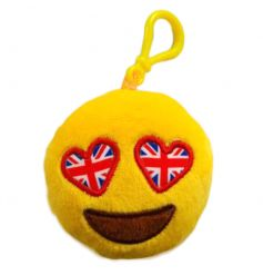 Union Jack Emoji Plush Keyring