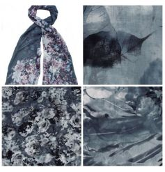 A mix of pretty floral scarves in grey hues. A great gift for many occasions.