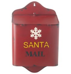 Cool red wall hanging mail box for sending santa your mail