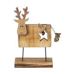 Decorative wooden standing reindeer