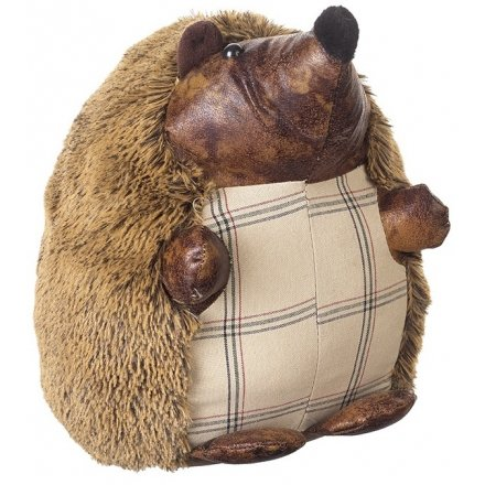 Fuzzy Hedgehog Doorstop 23cm