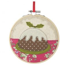 Add some charm to the home this festive season with this stitched Christmas Pudding wall hanging.