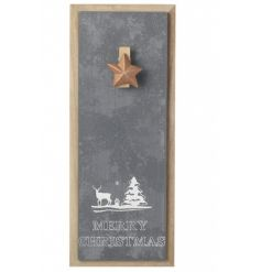 Stay organised this season with this contemporary style memo board with Christmas slogan and copper star peg.