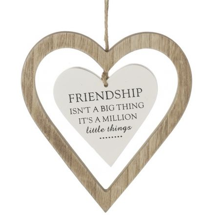 Friendship Hanging Heart Decoration