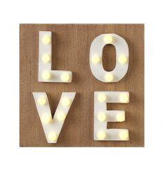 Wooden LED Love Sign