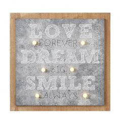 LED Sign Love, Dream, Smile
