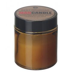 An all natural wax scented balm in a small glass pot complete with twisty lid