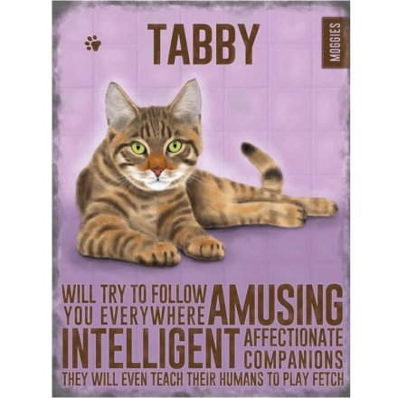 Metal Tabby Cat Sign