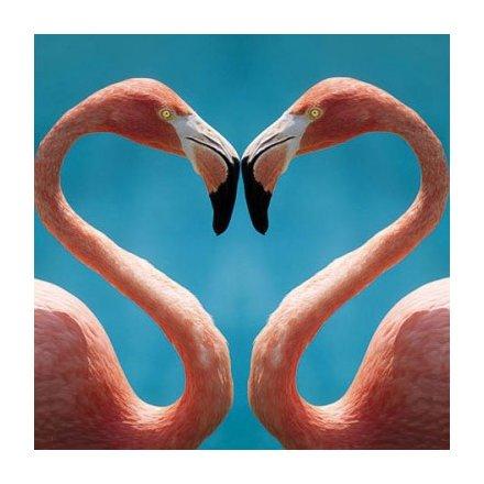 Flamingos Heart Greeting Card