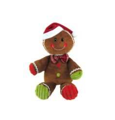 A fun and friendly ginger bread man soft toy.