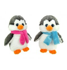 An assortment of 2 cute and cuddly penguin soft toys in pink and blue designs.