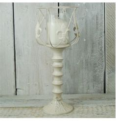Large Antique Cream Goblet Style Lantern