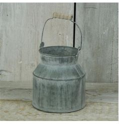 Small Rustic Zinc Churn