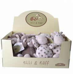 An assortment of two Ellie & Raff soft toys in display box