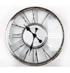 Cut out clock in a silver colour