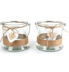 Heart & Butterfly Candle Holders, 12cm