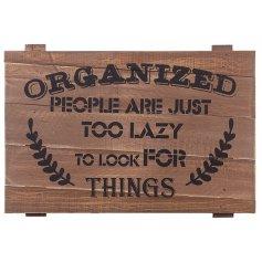 Comical wooden plaque