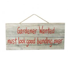 Wooden hanging plaque with comical quote