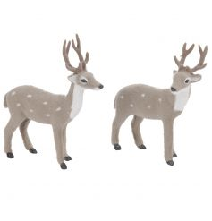 Cute fuzzy reindeer decorations for your winter wonderland