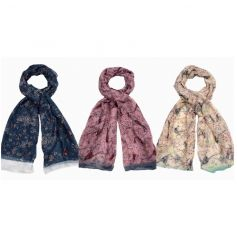 Colourful scarf mix with bird prints on each