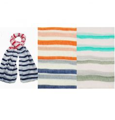 A mix of two tone fabric scarfs in stylish trendy colours