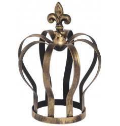 Golden Chic Crown Style Candle Holder