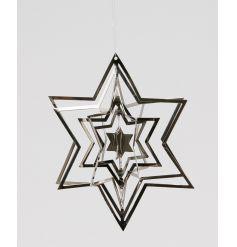 3D Spinning Silver Star 12cm
