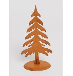 Be on trend this season with this rust style metal Christmas tree ornament.