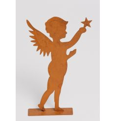 A standing rusty angel decoration