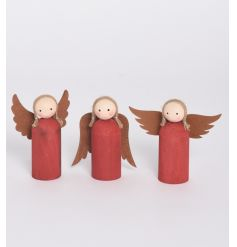 Unique and utterly charming wooden angel decorations with a distinct handmade finish.