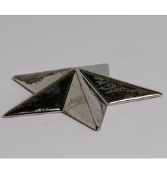 A chic decorative star ornament with a highly polished finish. A stylish home accessory.