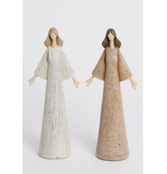 Stylish angel figures in cream and natural colours. A chic home accessory to compliment many styles.