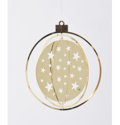 Star cut gold hanging decoration