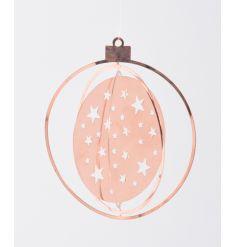 Star cut copper hanging decoration