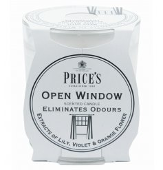 Fragranced open window candle in a glass jar by Prices
