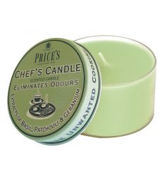 From the high quality Prices range, a chefs candle in tin