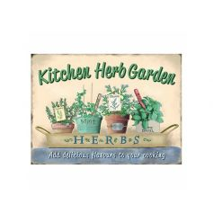 A gorgeous vintage style kitchen herb garden sign, perfect for the kitchen and potting shed.