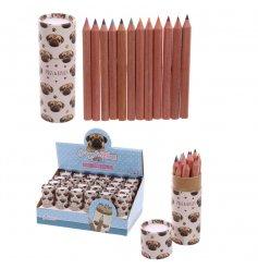 A tube of Pugs & Kisses Small Colouring Pencils