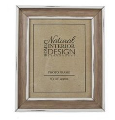 A wooden rustic picture frame