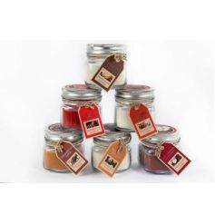 6 assorted scented candles