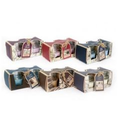 6 Assorted Scented Candle Jars