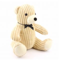Corduroy Teddy Doorstop Cream