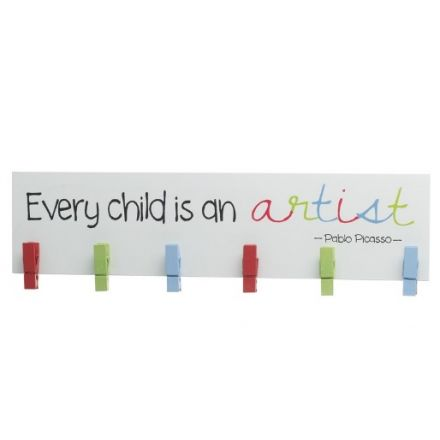 Child Artist Peg Sign