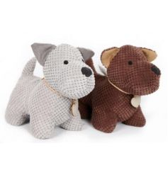 assorted grey and brown doggy doorstops