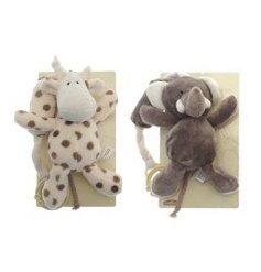 elephant and giraffe Soft Cot Toys