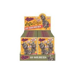 Retro playing soldiers 60pcs in colourful packaging